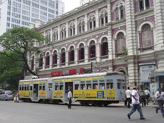 Calcutta Transport - Tram in Colonial District