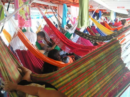 Amazon Boat - hammocks 2
