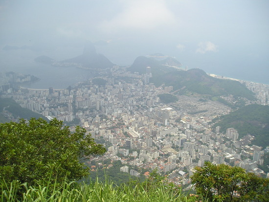 Corcovado - View of Rio to Sugar Loaf (top left)