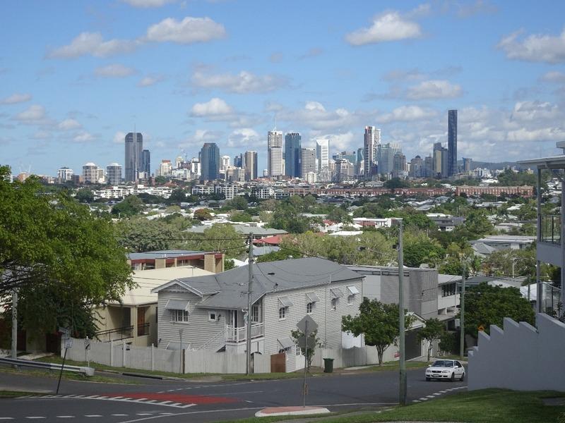 Brisbane skyline from Balmoral heights