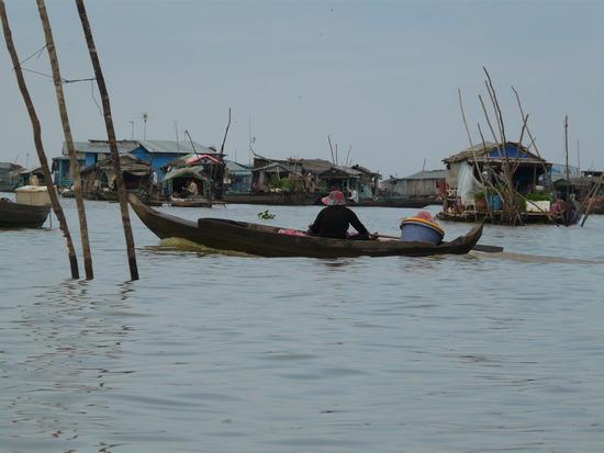 Floating village on Tonle Sap lake 2