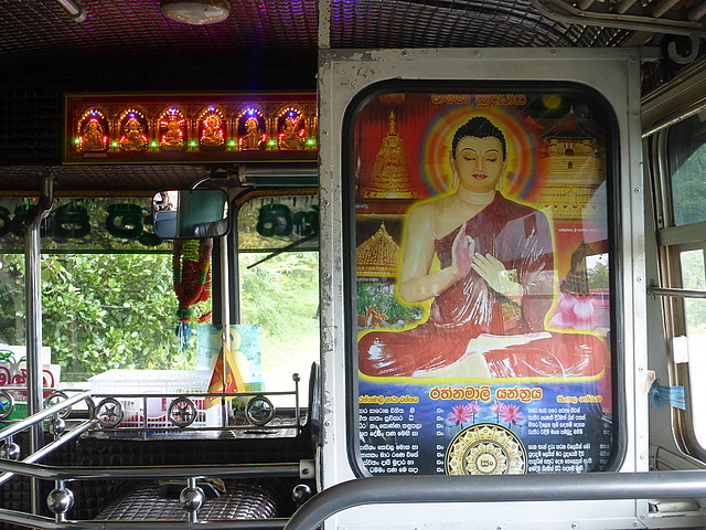 Bus from Sigiriya to Dambulla