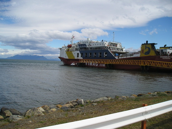 Nav Day 4 - Puerto Natales docked