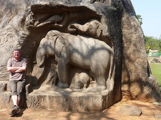 Mamallapuram hill  - rock reliefs