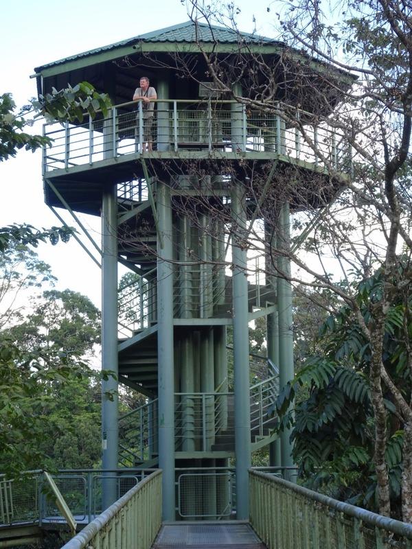 tower on aerial walkway