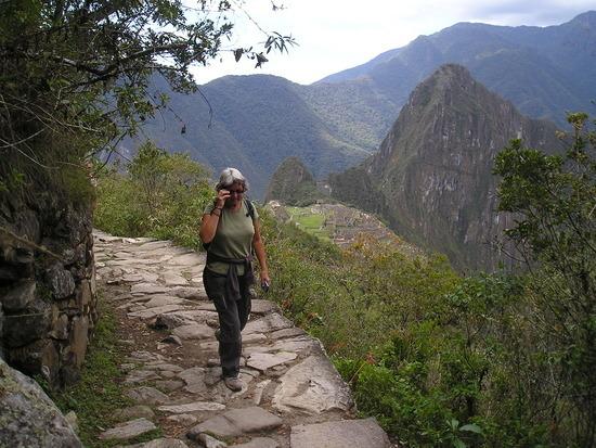 Machu Picchu - up path to Sun Gate