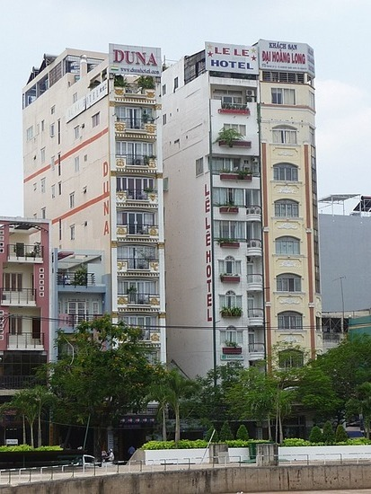 Around HCMC - Typical thin hotels (including ours)