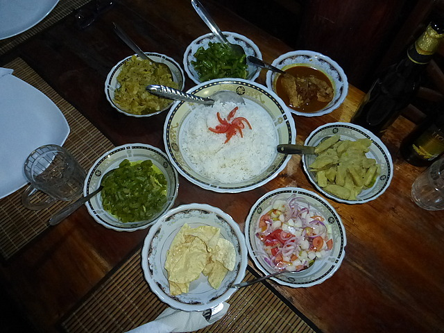 Homestay - delicious veg. curry dinner