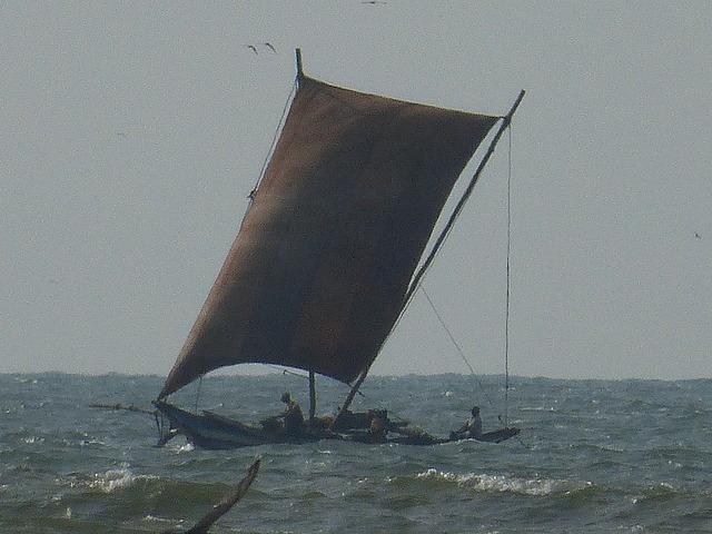 Negombo Town Beach - boat