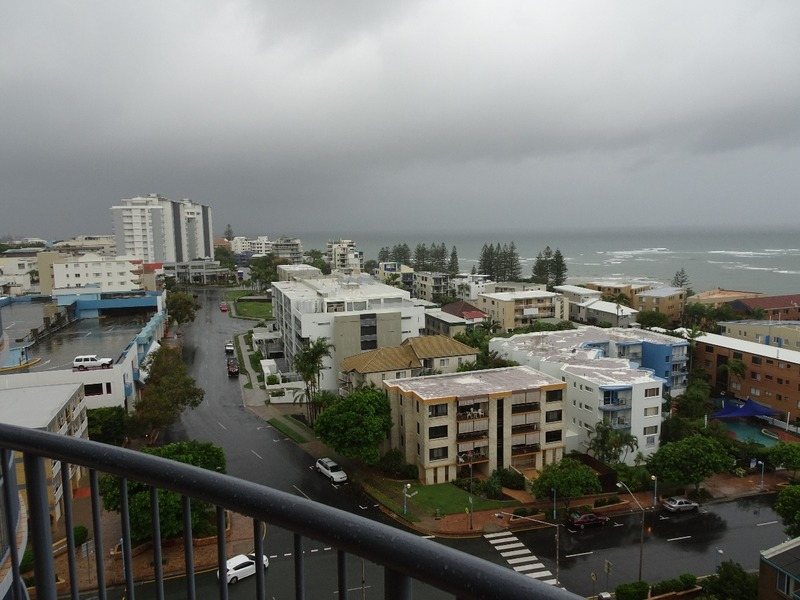 View from apartment as the storm approaches