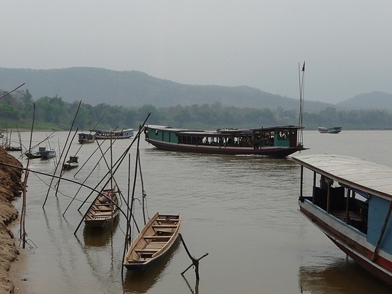 Boat Trip up Mekong to Pak Ou Caves 4