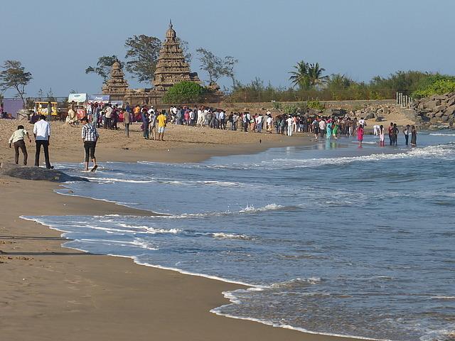 Beach scene by Shore Temples 2