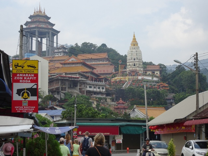 Kek Lok Si temple complex from below