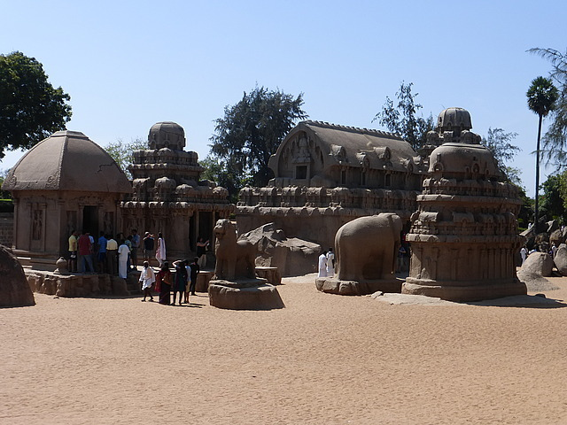 Five Rathas - all made out of one very large rock