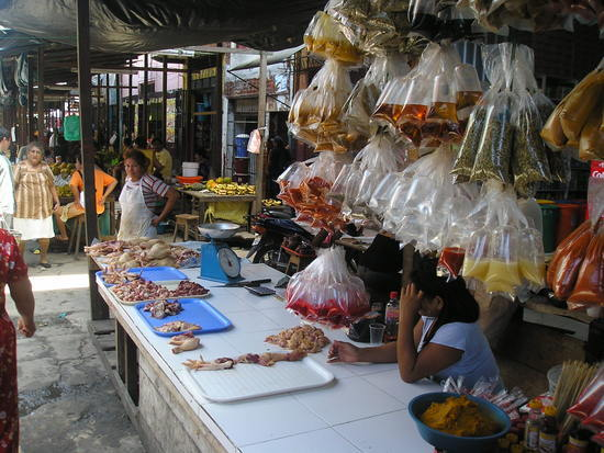 Belen market - Fancy a chicken bit?!