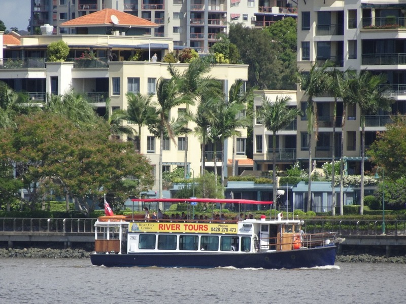 tourist boat on river