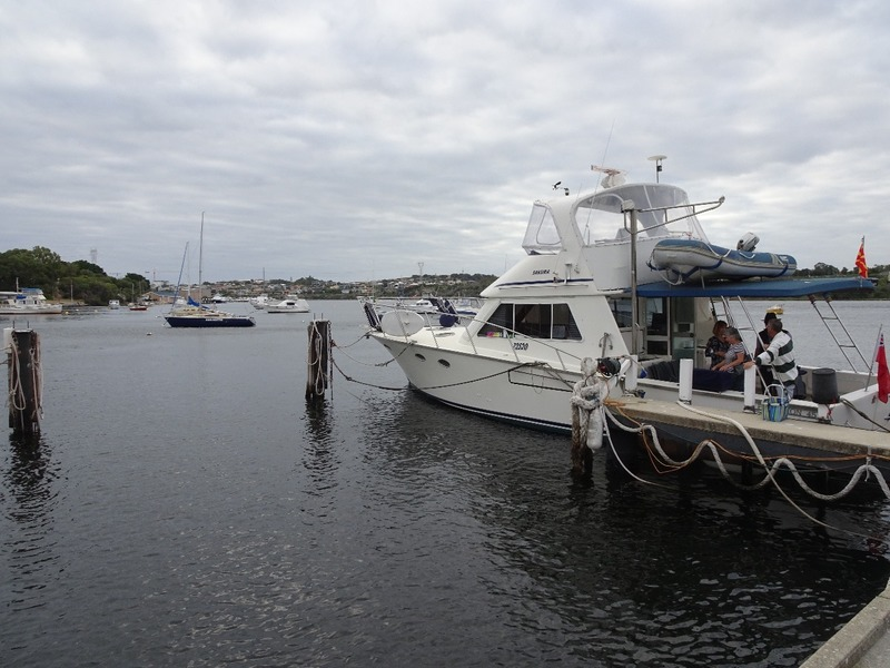 Boat outing up Swan River