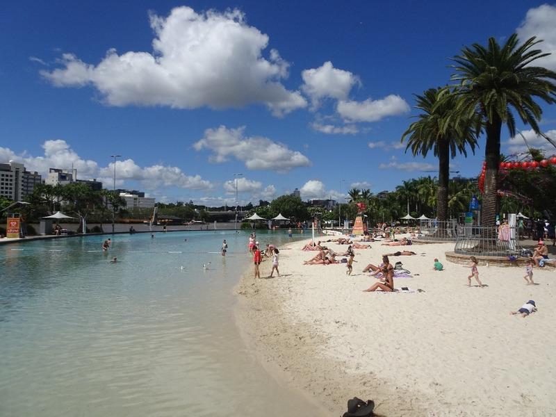 South Bank - artificial Beach!