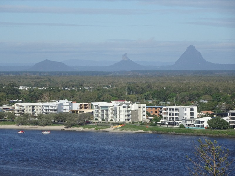 View from apartment - towards Glasshouse mountains