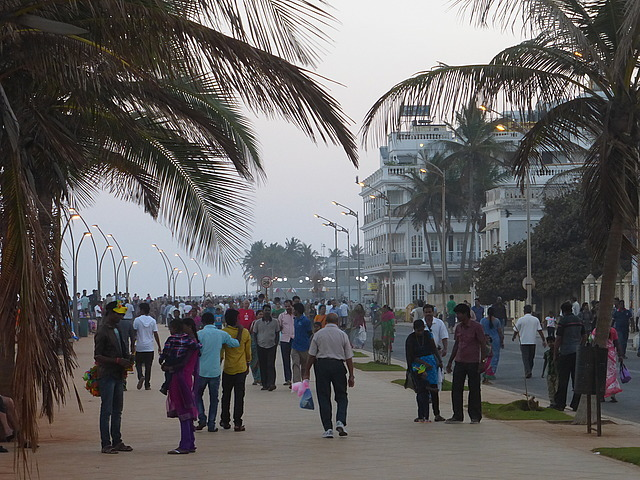 Pondicherry seafront early evening 3