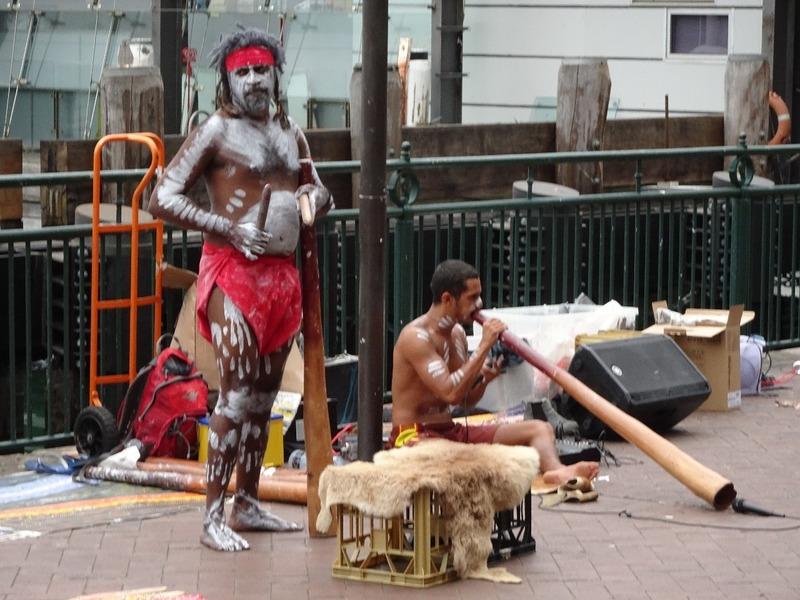 Performers at Circular Quay