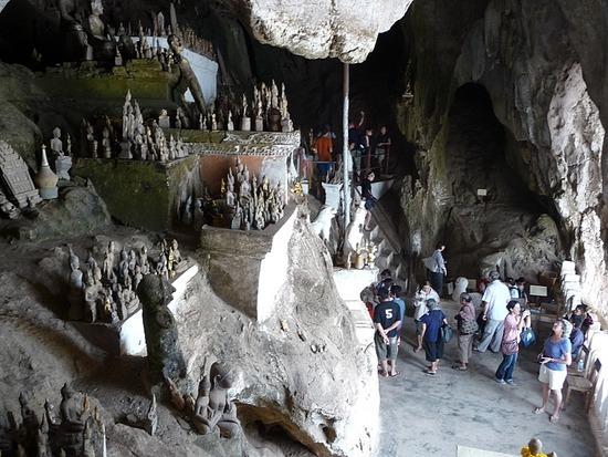 Inside Pak Ou Caves