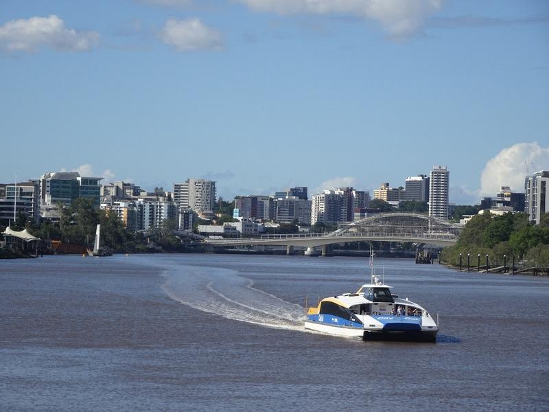 Brisbane River and River Cat boat