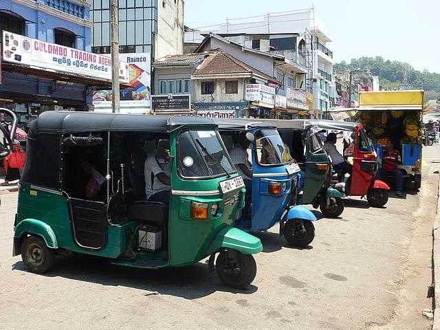 Auto rickshaws - multicoloured