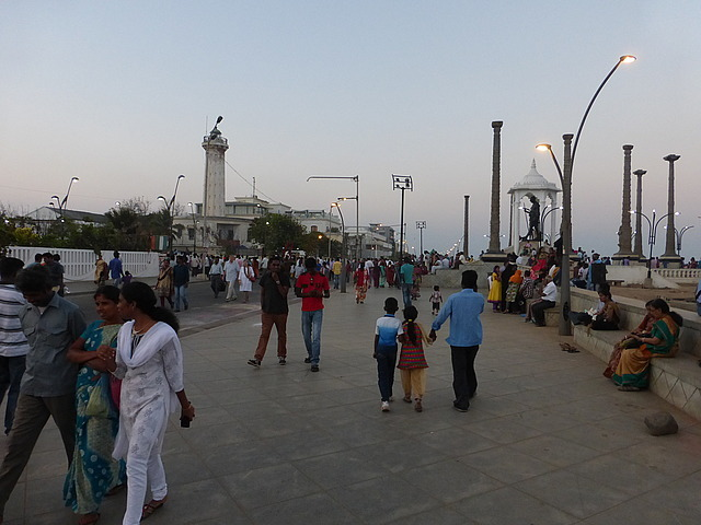 Pondicherry seafront early evening 5