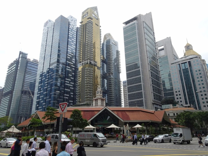 Skyscrapers and Lao Po Sat food court