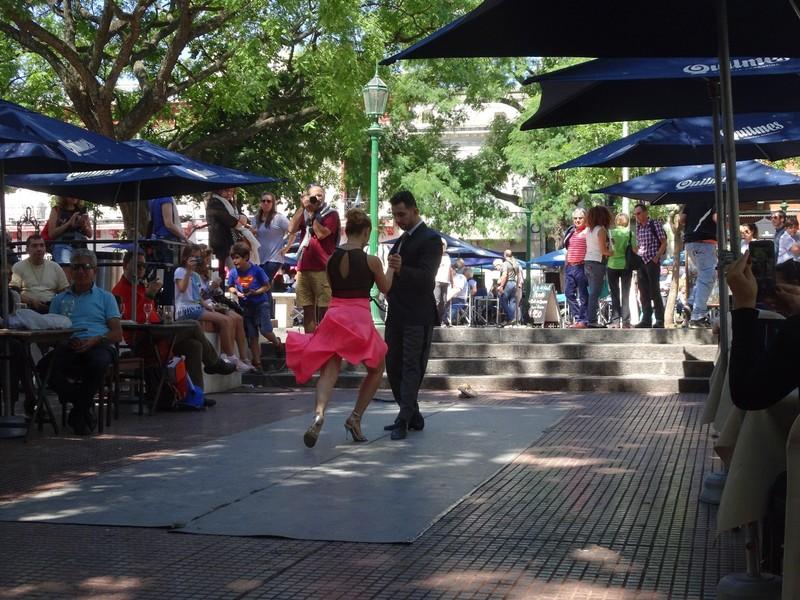 San Telmo Tango performers - Plaza Dorrego