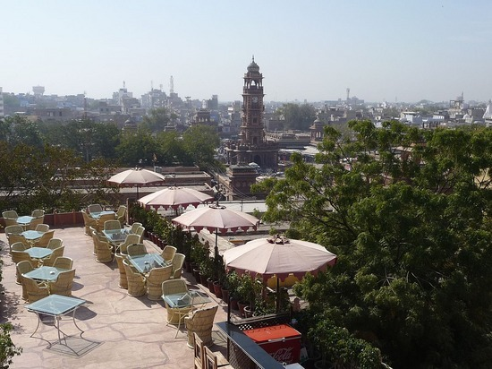 Hotel Pal Haveli - View from roof - Clocktower