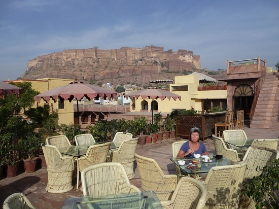Hotel Pal Haveli - Breakfast with a view