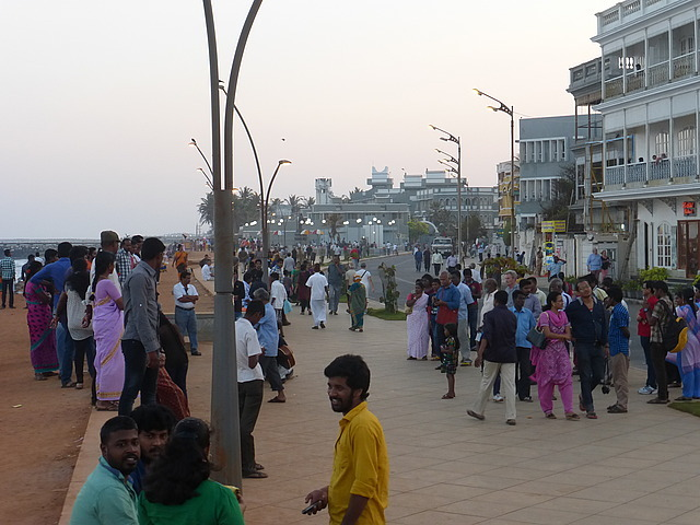 Pondicherry - seafront early evening