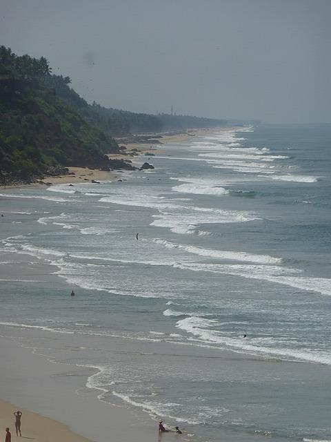 Varkala Beach from North Cliff