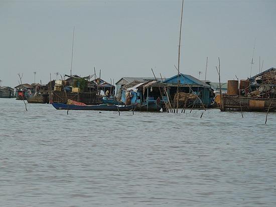 Floating village on Tonle Sap lake 1