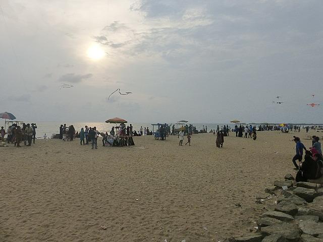 Calicut Beach at sunset