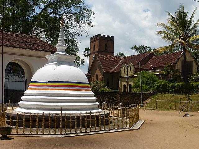 Stupa and St Paul's Church