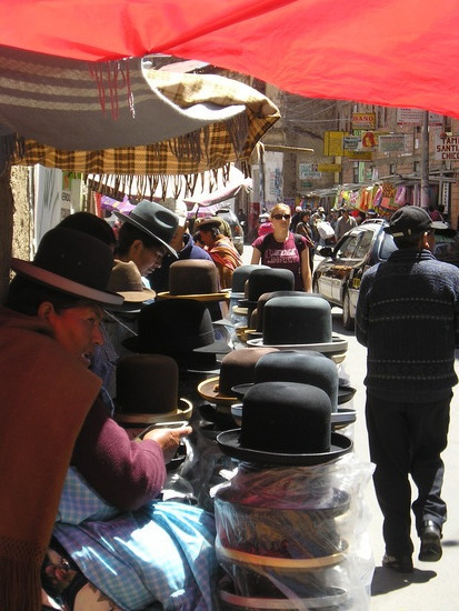 La Paz - Negro Market - Bowler hats for sale