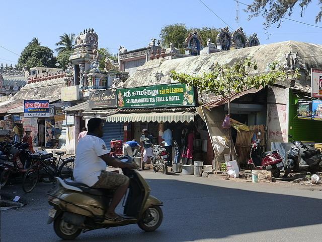 Street scene near temple