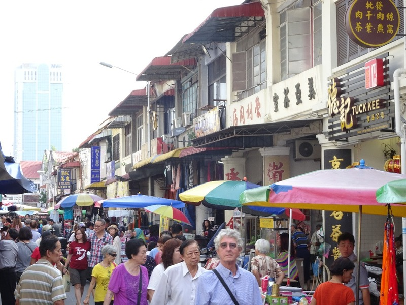 Street scene - Chowrasta Market area 2