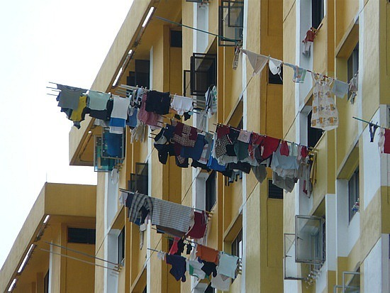 Singapore - washing out to dry 2