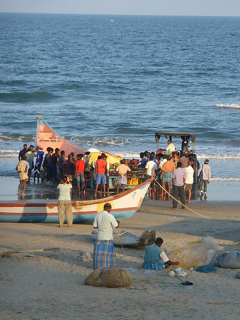 Fishermens Beach - getting ready to head off for n