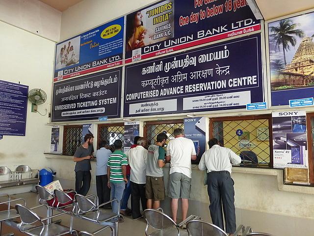 Pondicherry Station - making a reservation!