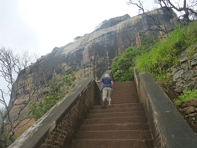 Sigiriya Rock - starting the climb ...