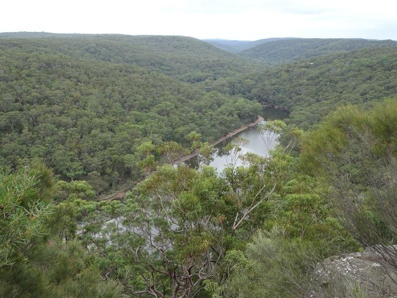 Royal National Park Walk - view from ridge