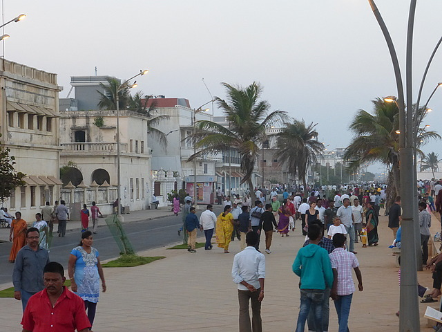 Pondicherry seafront early evening 2