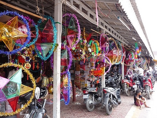 Siem Reap - Khmer New Year Decorations for sale