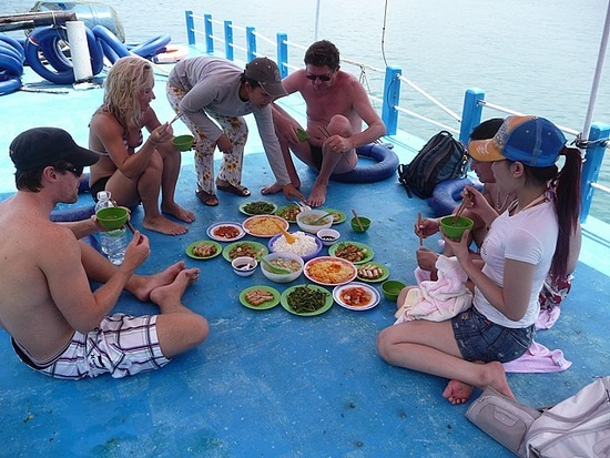 Boat Trip - Lunch on upper deck for a few