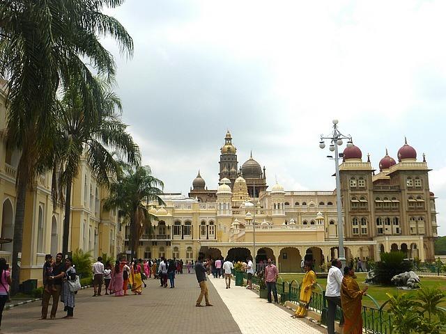 Mysore Palace building entrance - no photos inside